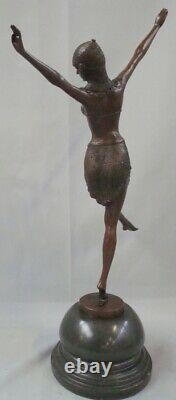 Statue Sculpture Palmyre Sexy Style Art Deco Style Art New Solid Bronze Sig