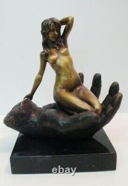 Statue Sculpture Pin-up Sexy Nu Style Art Deco Style Art New Solid Bronze S