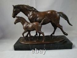 Statue Sculpture Poulain Animalist Style Art Deco Style Art Nouveau Bronz