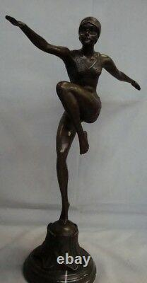 Statue Sculpture Sexy Style Art Deco Style Art New Solid Bronze