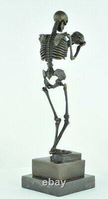 Statue Sculpture The Thinker Skeleton Style Art Deco Style Art Nouveau Bronze Ma