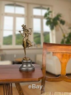Statue Woman Dancer Eroticism Bronze Art Sculpture Figurine 35cm
