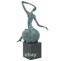 Statue Woman Erotica Bronze Art Sculpture Figurine 42cm