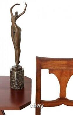Statue Woman Erotica Bronze Art Sculpture Figurine 48cm
