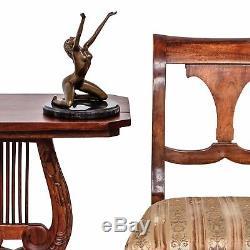 Statue Woman Eroticism Bronze Art Sculpture Figurine 25cm