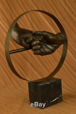 Stunning Abstract Contemporary Pure Bronze Sculpture Modern Art By Figurine
