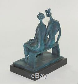Stunning Quality Pure Bronze Sculpture Substantial Abstract Modern Art Deco