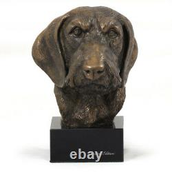 Teckel With Hard Hair, Miniature Statue / Dog Bust Limited Edition, Art Dog En