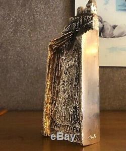 Trophy Sculpture Bronze, Signed Louis Derbré, Edf, 1992 Art