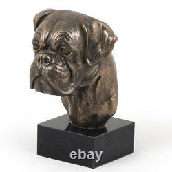Uncut Boxer, Miniature Statue / Dog Bust, Limited Edition, Art Dog En