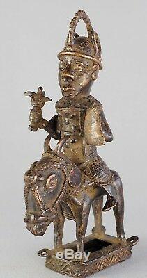 Very Nice Jumper Bronze Statue Of Benin African Tribal Art African Sculpture