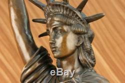 Vintage Collection Woman Liberty Spelter Figurative Bronze Sculpture Art Deco