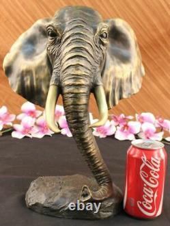 Vintage Grand Bronze Elephant Sculpture By A. Barye Beau Art Piece Figure