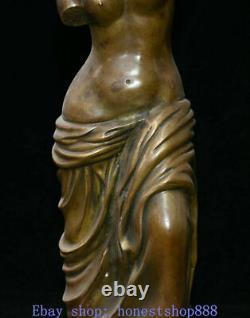 Western Art Deco Bronze Women Girl Roman Mythology Venus God Of Love Sculpture