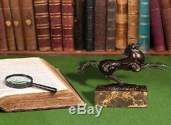 World Art Horse Small Sculpture Bronze Multicolored, 16x24x7,5 CM