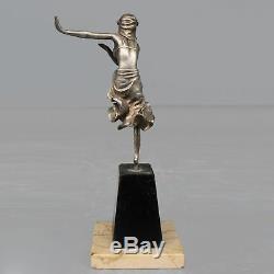 Young Dancer In Silver Bronze Art Deco 1930