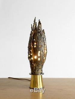 1970 Lampe Sculpture Art-deco Moderniste Brutalist Shabby-chic