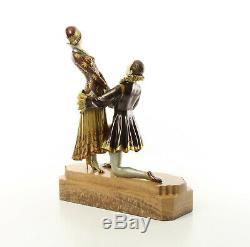 9973613-dss Bronze Sculpture Art Déco Liebespar Éternel Amour Coloré 40x12x32cm