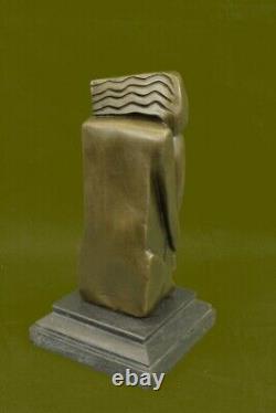 Abstrait Art S. DALI Bronze Massif Sculpture Marbre Base Moderne Figrine Deal