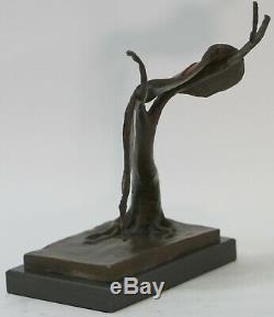 Abstrait Moderne Art Melting Horloge Bronze Sculpture par Salvador Dali Solde