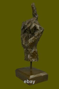 Abstrait Moderne Art Numéroté Bronze Main Gesture Sculpture Bureau Décor Maison