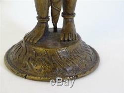 Antique Figure de Bronze Sculpture Déité / Divinité Indiens Mythologie Inde Art