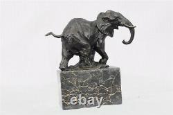 Art Déco Faune Éléphant Par Milo Bronze Fonte Sculpture Statue Figurine Nr