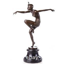 Art Déco Figure en Bronze Danseuse Bronze Sculpture Hauteur