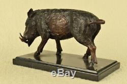 Art Déco Fonte Sauvage Cochon Sanglier Ferme Bronze Animal Sculpture Statue