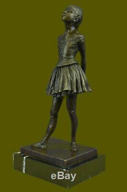 Art Déco Nouveau Ballerine Danseuse Classique Bronze Sculpture Figurine By Degas
