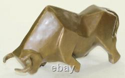 Art Moderne Abstrait Bull Bronze Figurine Botero Statue Sculpture Figurine