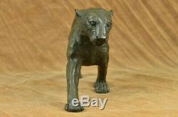 Art Moderne Abstrait Panthère Jaguar Cougar Lion Bronze Sculpture Soldes Bugatti