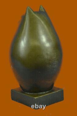 Art Moderne Bronze- Fat Chat, Signée Un Hommage À Botero Bronze Sculpture Déco