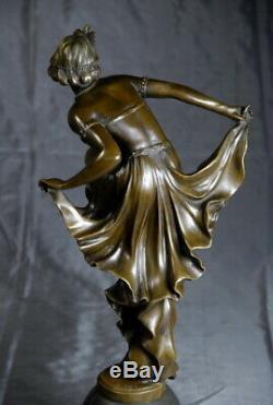 Art Nouveau Magnifique sculpture signée Gory bronze envoi gratuit