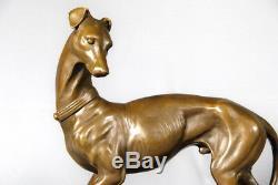 Art animalier- bronze- Très beau lévrier italien signé Barye- envoi gratuit