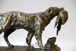 Art animalier, très belle sculpture de Jules Moignez bronze envoi gratuit