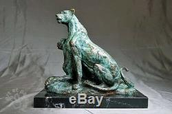 Art nouveau très belle sculpture en bronze signée envoi gratuit