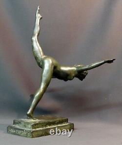 B 1930 belle Sculpture bronze Botinelly 37cm3.4kg Susse paris danseuse art déco