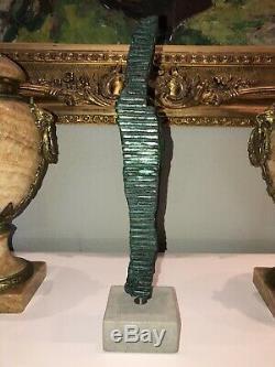 BOURDIER Jean Frederic Sculpture En Bronze Art Contemporain Signé Artiste Connu