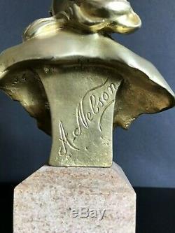 BRONZE doré d' Anton NELSON 1849/1910 Art nouveau
