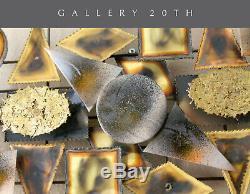 Beau Brutaliste Abstrait Mural Art! Laiton Bronze Sculpture Vtg c. Jere Evans
