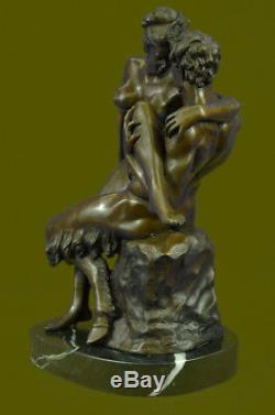 Bronze Autrichien Érotique Demon Satyr Sculpture Figurine Art Vintage