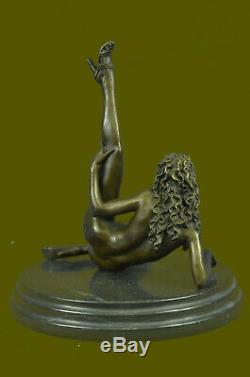 Bronze Chair Femme Fille Modèle Érotique Sculpture Clôture Art Statue Figurine