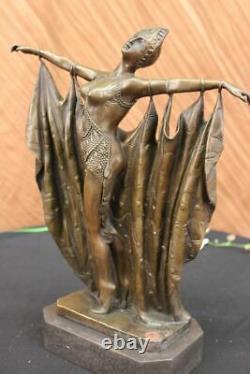 Bronze Décor de Collection Sculpture Abstrait GIA Chiparus Massif. Art Nr