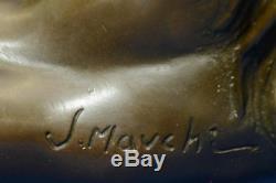 Bronze Nu Femmes Sculpture Érotique Abstrait Art Sexuelle Dame Nue Statue Figure
