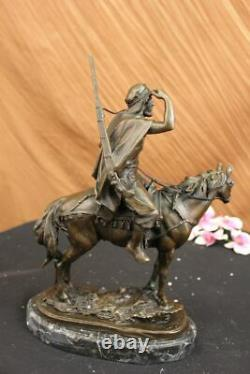 Bronze Sculpture Antoine Barye Arabe Sur Cheval Marocain Hunter Déco Art
