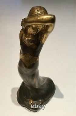 Bronze Sculpture Art Nouveau H. S RINGI Harald Sorensen Femme Design 1920