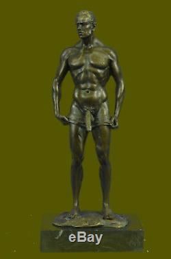 Bronze Sculpture, Main Fabriqué Statue Gay Art Collectionneur Édition Chair Mâle
