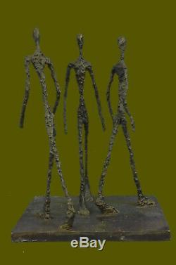 Bronze Sculpture Moderne Art Abstrait Figurine Bureau à Domicile Décor Chaud