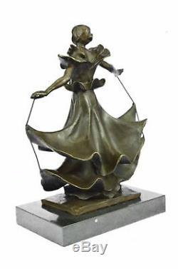Bronze Sculpture de Collection Rare Dali Dalinian Danseuse Musée Art Déco